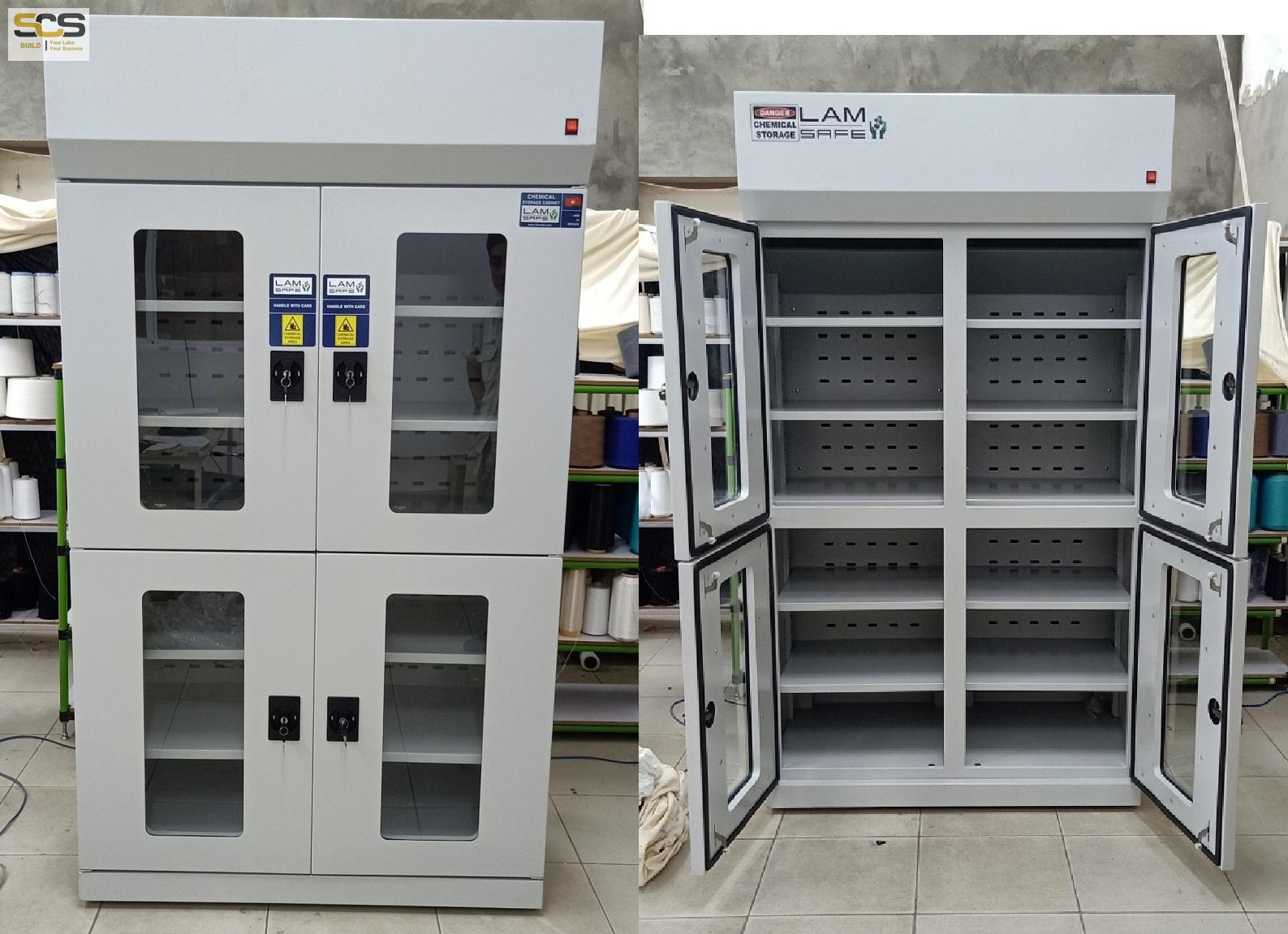 Tủ đựng hóa chất có lọc hấp thu hóa chất kích thước 800mm